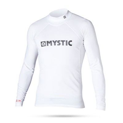Mystic Star Rash Vest Men L/S White L
